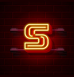Neon city font letter s signboard vector