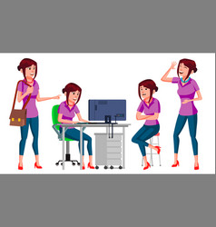office worker woman business person face vector image