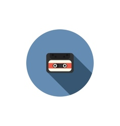 old audio cassette tape icon vector image
