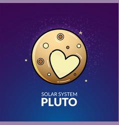 Planet pluto vector