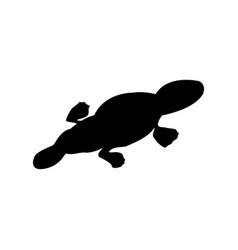 Platypus silhouette vector
