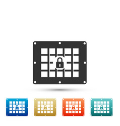 Prison window icon isolated on white background vector