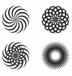 radial design elements vector image