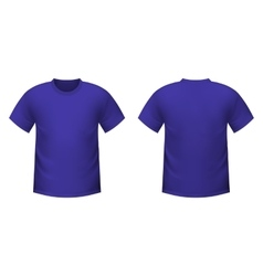 Realistic purple t-shirt vector image