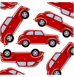 red car pattern vector image