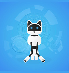 robot cat animal machines working automatically vector image