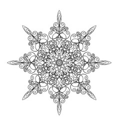 round ornamental graphic design drawing vector image