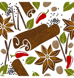 Seamless pattern with spices vector
