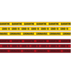 set quarantine yellow and red stripes vector image
