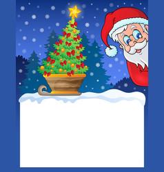 small frame with christmas theme 1 vector image