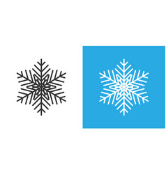 Snowflake icon in flat style snow flake winter on vector