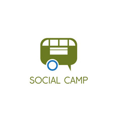 social camp design concept with trailer vector image
