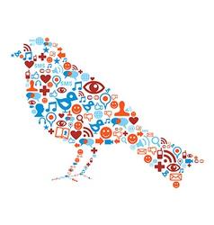 Social media bird icon vector image