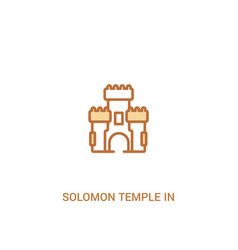Solomon temple in jerusalem concept 2 colored vector