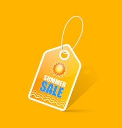 Summer sale tag vector image