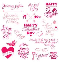 Valentine day calligr 7 380 vector