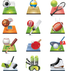vector sport icon set vector image