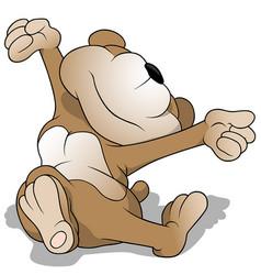 wake up teddy bear vector image