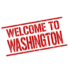 welcome to washington stamp vector image