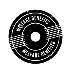 Welfare Benefits rubber stamp vector
