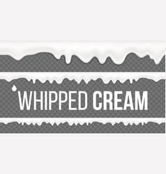 Whipped cream pattern white creamy swirl vector
