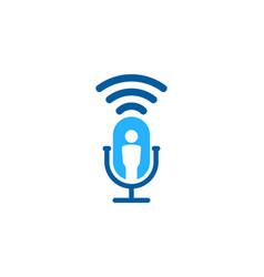 Wifi podcast logo icon design vector