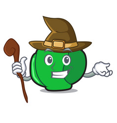 Witch brussels mascot cartoon style vector