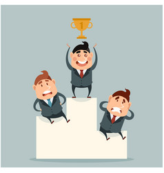 business concept about success with victory vector image