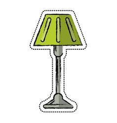 cartoon floor lamp decoration icon vector image