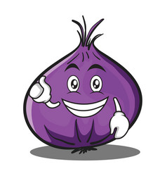 optimistic red onion character cartoon vector image vector image