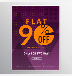 sale and discount voucher in modern design vector image