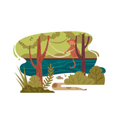 wild jungle forest vector image