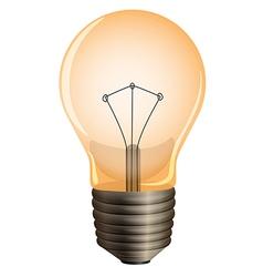 An orange bulb vector