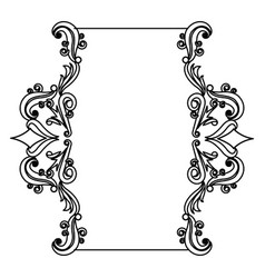 decorative frame floral border cute image vector image vector image