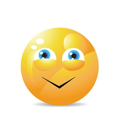 Funny smiling face vector image vector image