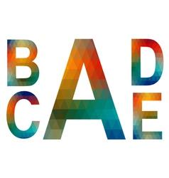 Mosaic alphabet letters a b c d e vector