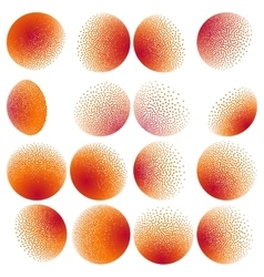 Set of Abstract Halftone Design Elements EPS 10 vector image
