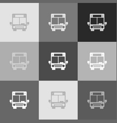 bus sign grayscale version vector image vector image