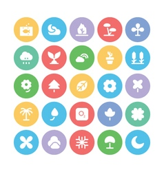 Nature colored icons 5 vector