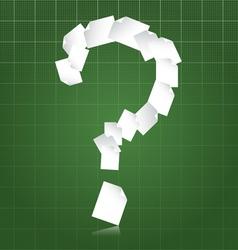 Paperwork questions vector image vector image