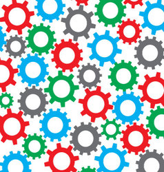 Cog wheel seamless color pattern vector image
