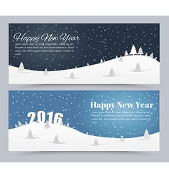 Design banner Merry Christmas and Happy New Yea vector image vector image