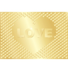 golden background with word Love vector image vector image