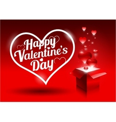 Modern bright valentines day gift vector image