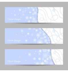 Set of 3 winter banners vector image