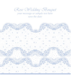 Vintage delicate lace card handmade ornament for vector