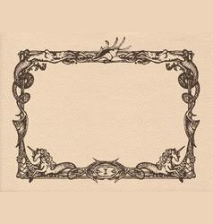 vintage marine frame vector image