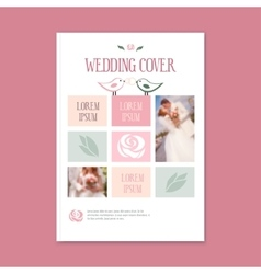 wedding template cover booklet The cover vector image vector image