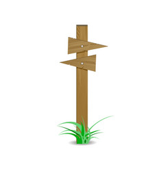 wooden signpost board arrow directional right left vector image vector image