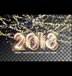 2018 gold garland invitation vector image
